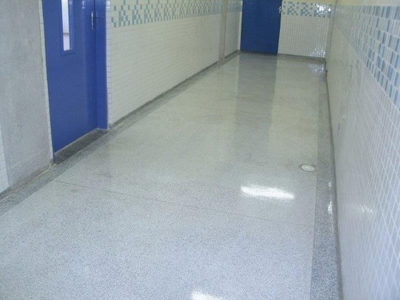 Pisos Granilite Banheiro Mailasqui - Piso Granilite 40x40