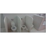 divisórias de banheiro em granilite São Roque