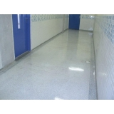 piso granilite azul Paulínia
