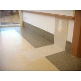 piso granilite bege Taubaté