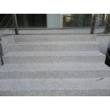 revestimento para escada em granilite Marília
